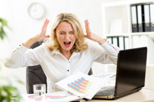 manager frustrated with errors in office