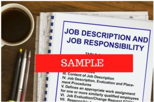 Image reflecting a Job Descripton