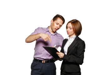 Boss explaining checklist to team