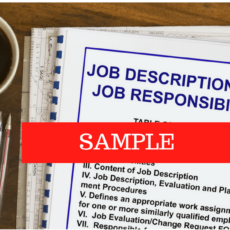 A Job Description example (of a Bank Manager)